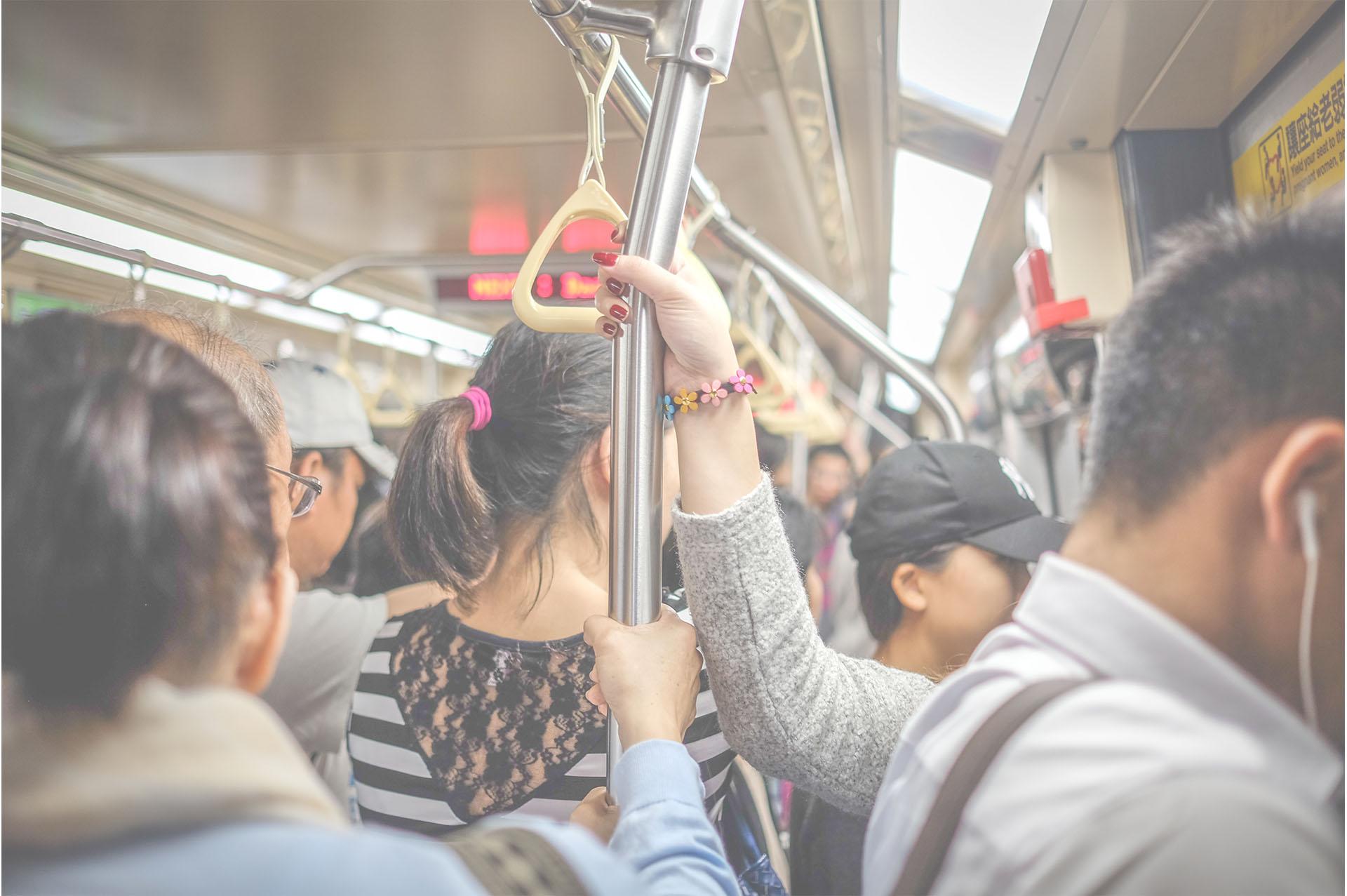 満員電車の中にいる光景